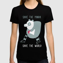 cuore di panda T-shirt