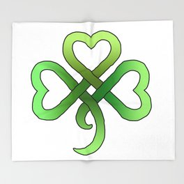 Celtic Clover Throw Blanket