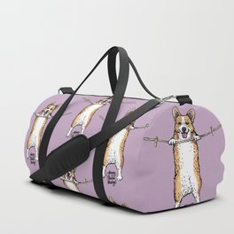 Hang In There Baby Corgi Duffle Bag