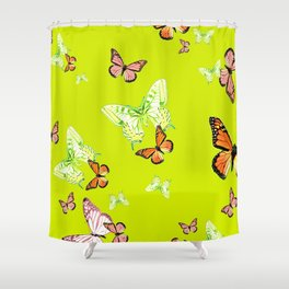 Tiger and Butterflies Shower Curtain