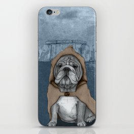 English Bulldog in Stonehenge iPhone Skin