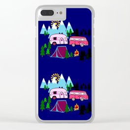 Lady Bed Rock Clear iPhone Case