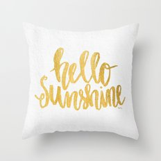 Hello Sunshine by Misty Diller Throw Pillow