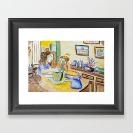 Studying ... Framed Art Print