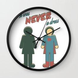 It Was Never A Dress - Wonder Super Girl Woman Lady Wall Clock