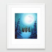 coven Framed Art Prints featuring Witch Coven by Annya Kai
