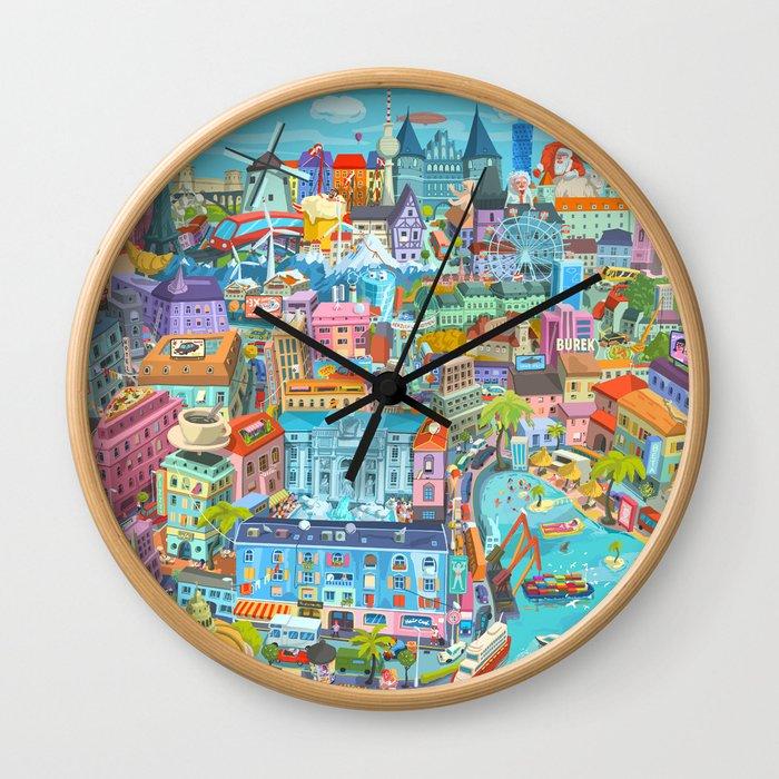 Happy 60th Birthday European Union Wall Clock