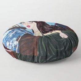 Victorian Seaside Floor Pillow