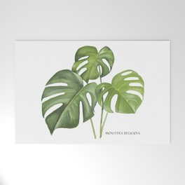 Monstera deliciosa 3 Leaves Welcome Mat