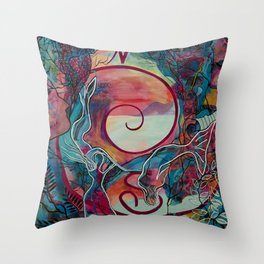 Mermaid Transformation Throw Pillow