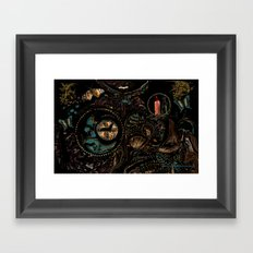 Circles and Jewels... collage-abstract Framed Art Print