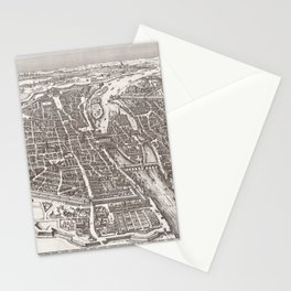 Large Map of Paris from 1618 Stationery Cards