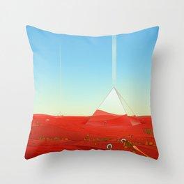 Mirror Pyramids Throw Pillow