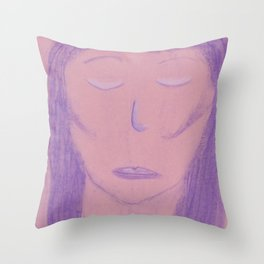 White Pink Violet Flame Woman Shekhinah Shakti Nur Throw Pillow