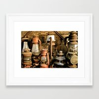 lanterns Framed Art Prints featuring lanterns by Lisa Carpenter