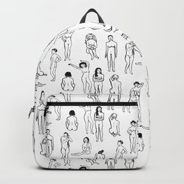 Nudes - Black and White Backpack