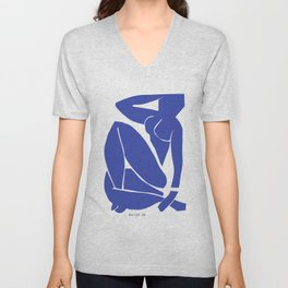 Henri Matisse - Blue Nude III 1952 - Original Artwork Reproduction Unisex V-Neck