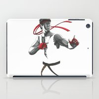 street fighter iPad Cases featuring Ryu Street Fighter by Papan Seniman