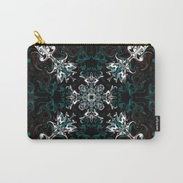 Black and Teal Graphic Design Carry-All Pouch