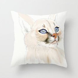 Little Caracal Throw Pillow