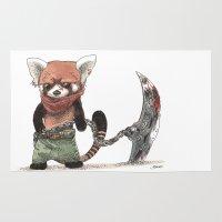bouletcorp Area & Throw Rugs featuring Panda Roux Barbare by Bouletcorp