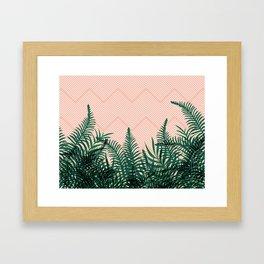 Tropical Ferns on Pink #society6 #decor #buyart Framed Art Print