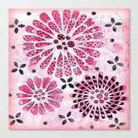 flower pattern Canvas Prints featuring Flower Pattern by Judy Skowron