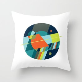 Binaries on White Throw Pillow