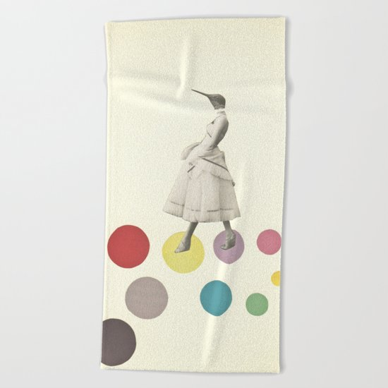 Bird Lady Beach Towel