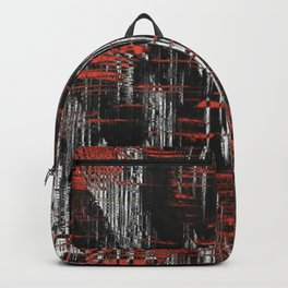 Red and Black Modern Art Backpack