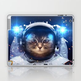 Beautiful cat in outer space Laptop & iPad Skin