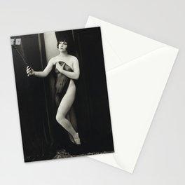 Nude Retro Fashion Selfie Stick Vintage Photography Stationery Cards