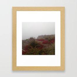 Cliffs on the Beach Framed Art Print