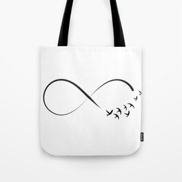Freedom infinity symbol with swallows Tote Bag