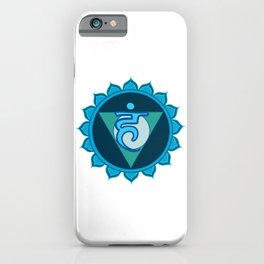 Vushuddha Throat Blue Chakra iPhone Case