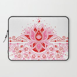 Lotus Blossom Mandala – Red & Pink Palette Laptop Sleeve