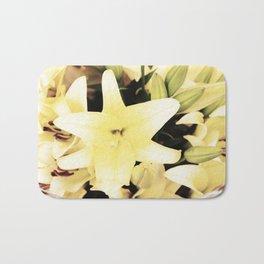 White lilium Bath Mat