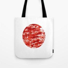 Flag of japan 3- Chalk version. Tote Bag
