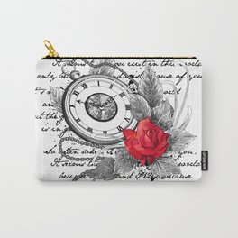 Pocket watch and rose Carry-All Pouch