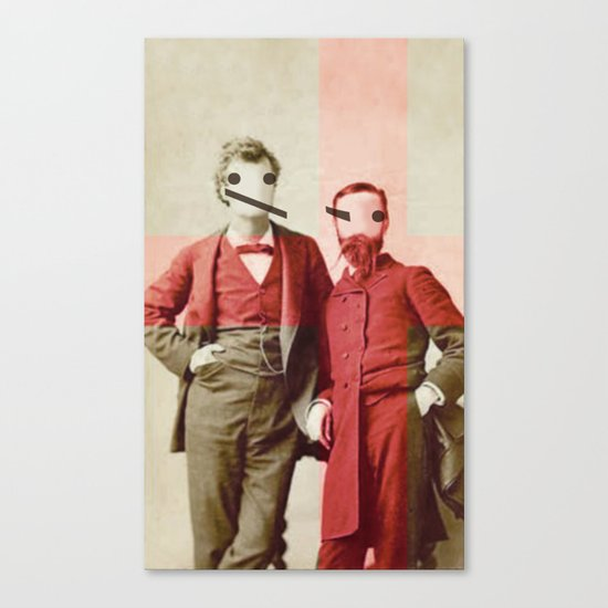 the backslash brothers Canvas Print