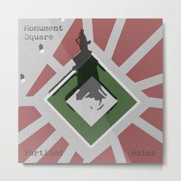 Monument Square Portland Metal Print