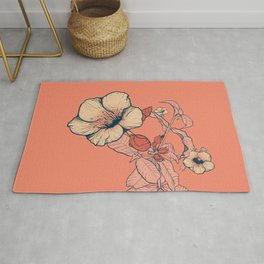 Outline flowers Rug