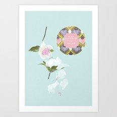 My BATHROOM - Flowers Art Print