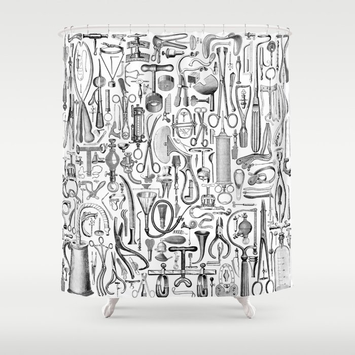 Medical Condition BW Shower Curtain