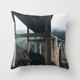 Bixby Bridge, Big Sur, CA Throw Pillow