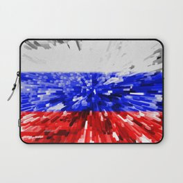 Extruded Flag of Russia Laptop Sleeve