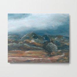 Storm brewing over rural landscape Metal Print