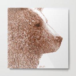 Bear Glare Metal Print