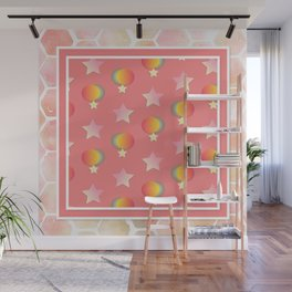 Pink eclipse pattern Wall Mural