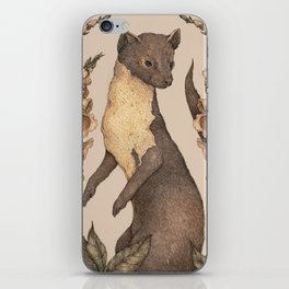 The Marten and Foxglove iPhone Skin